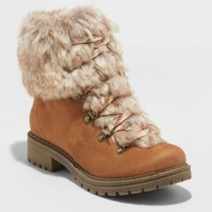 Women's Lilliana Microsuede Faux Fur Lace-Up Boots